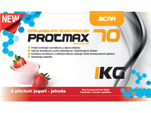 Protmax 70 -  CFM Whey and Soya Protein - Jogurt a jahoda - 1 kg