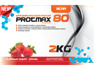 Protmax 80 - Whey and Soya Protein - Jahoda - 2 kg