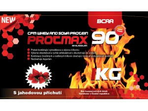 Protmax 90 - CFM Whey and Soya Protein - Jahoda - 1 kg