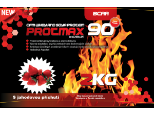 Protmax 90 - Whey and Soya Protein - Jahoda - 2 kg